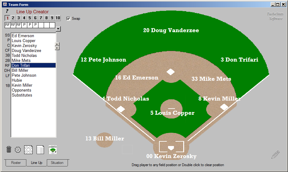 Free Baseball Lineup Generator
