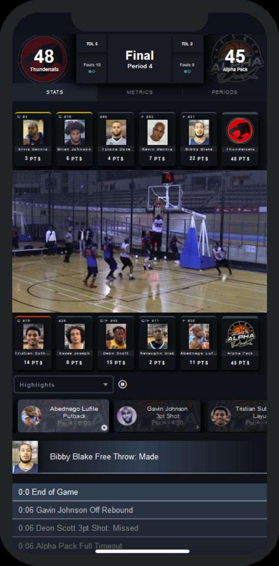 Live Basketball Webcasting Mobile