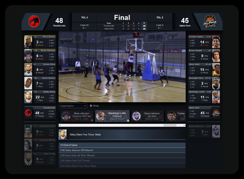 Live Basketball Webcasting