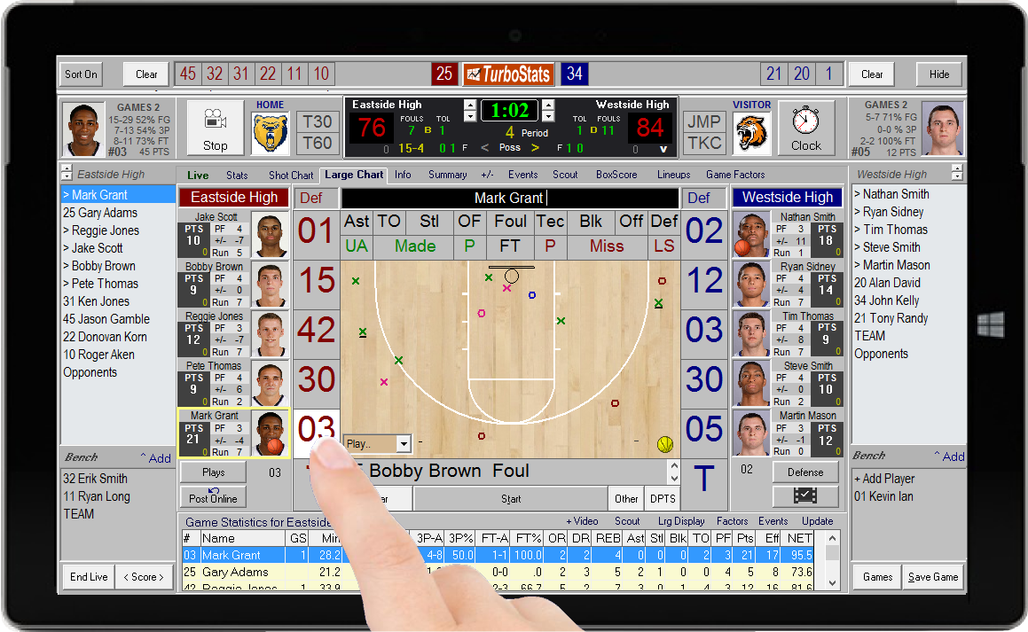 Most Advanced Basketball Live Scoring App