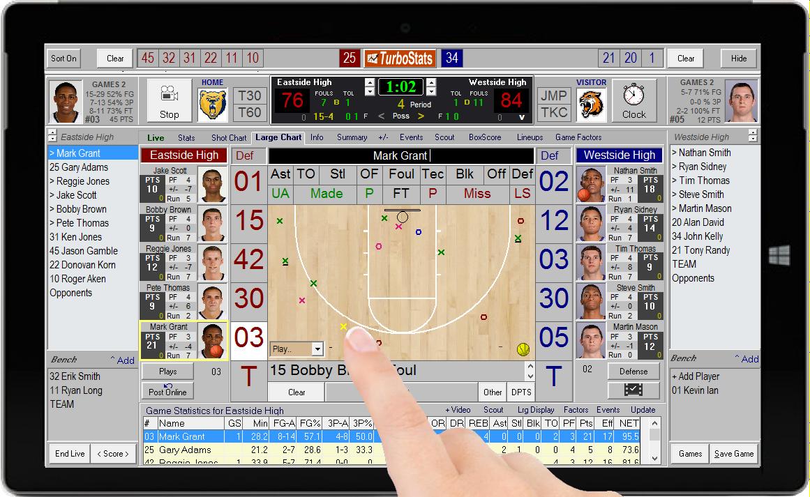 Basketball Statistics Software App