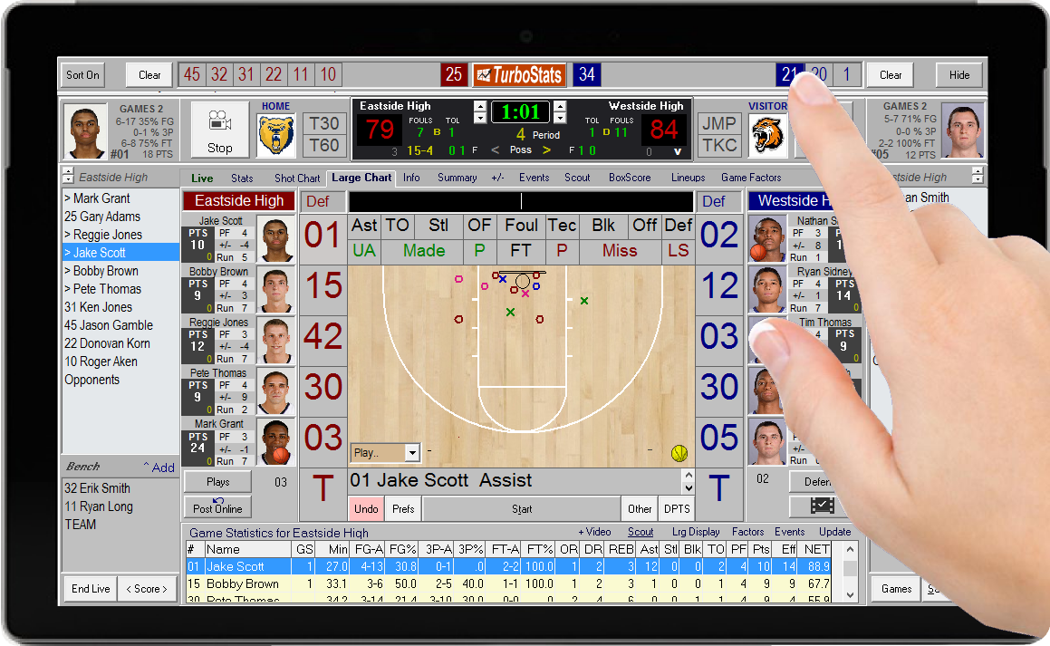 Fastest Basketball Subbing Software App