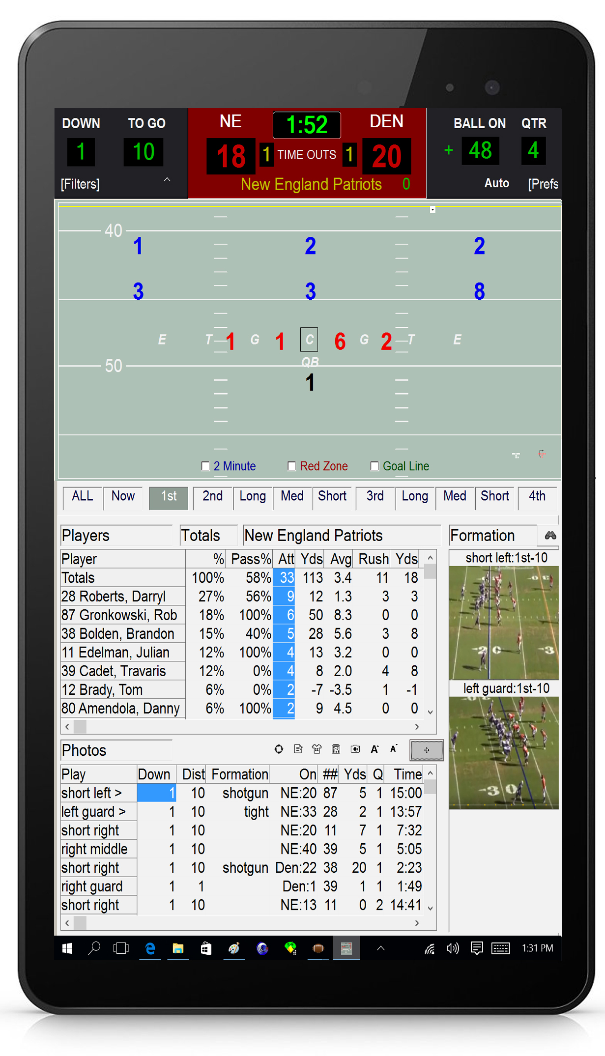 Football Scouting Tablet