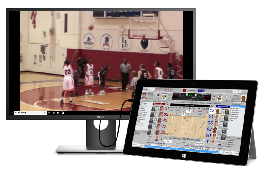 Score basketball games by video after the game software app